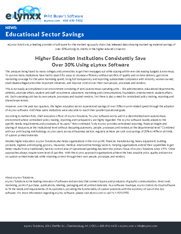 eLynxx-Sector-Savings-Education