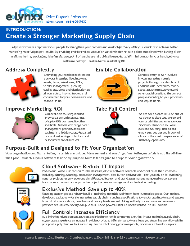 Create Stronger Marketing Supply Chain