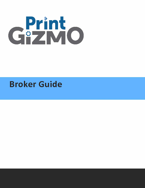 Printer Guide for Brokers