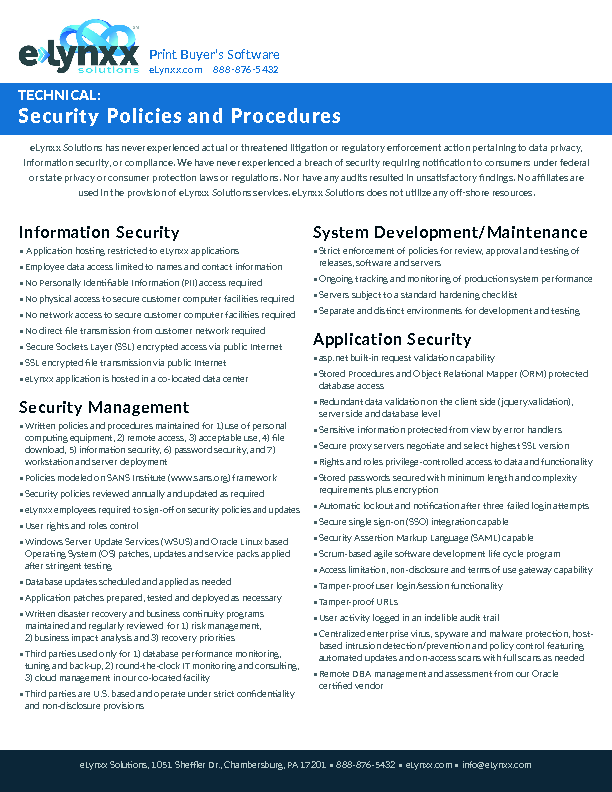 Security Policies and Procedures